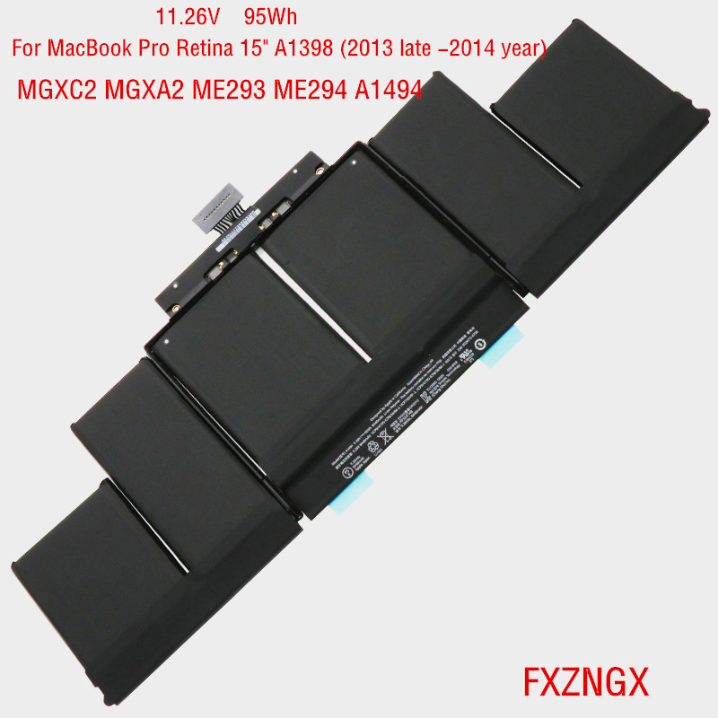 11 26V 95Wh A1494 Laptop Battery for font b MacBook b font Pro Retina 15 A1398