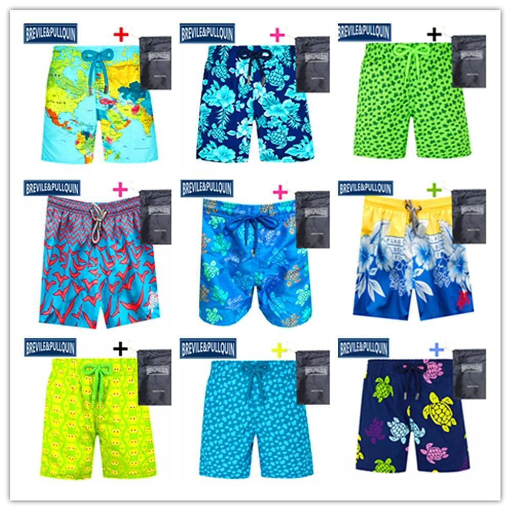 2020 Turtles Elastic Band Boys Swimsuits Brevile Pullquin Kids Boardshorts Children Swimwear World Map Swimtrunks 100% Quick Dry