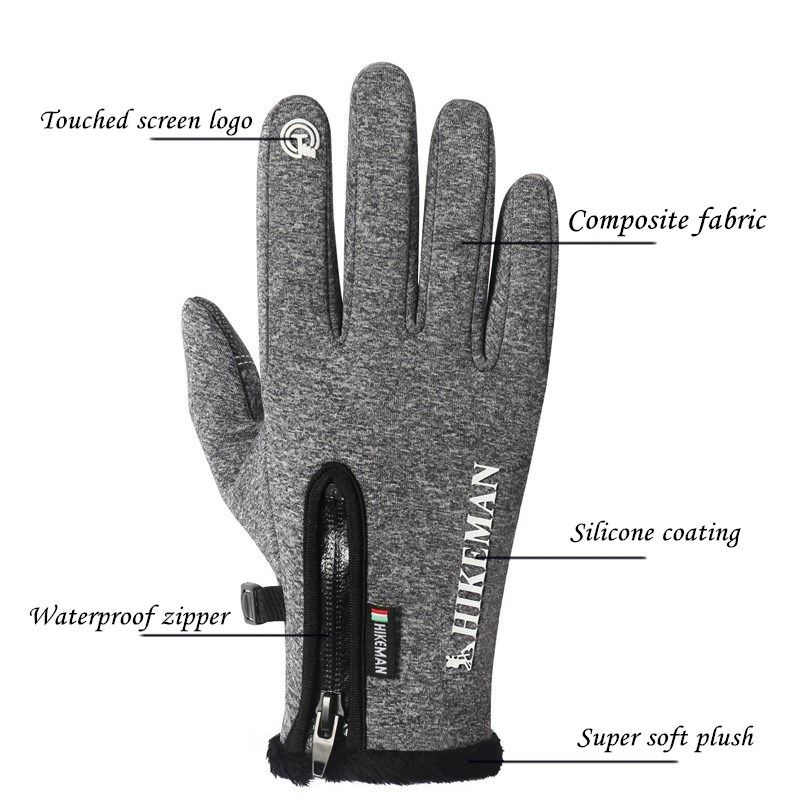 CUHAKCI Waterproof and Windproof Touch Screen Gloves for Men and Women Suitable for Operating All Touch Screen Devices during Winter 21
