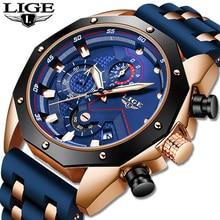 2020 LIGE Blue Mens Watches Top Brand Lu