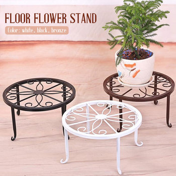 Wrought Iron Flower Pot Rack Flower basion Display Home Decor Round Plant Stand Floor Potted Stander Create Garden Balcony self flower stand flower pot rack single floor type wrought iron european style indoor living room hanging orchid plant rack