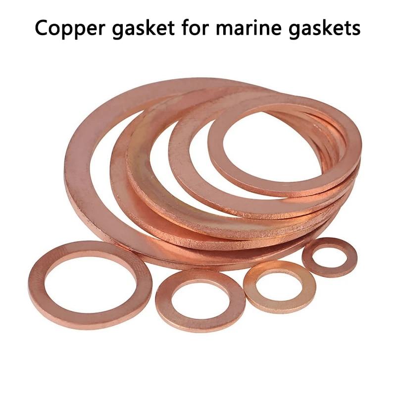 18x26x2 Inner Diameter : M18 ZZHY 5Pcs Sealing Ring Copper Washer Boat Crush Washer Flat Seal Ring Fitting DIN7603 M6 M8 M10 M12 M14 M16 M18 M20 T3 O Ring Gasket WAsher