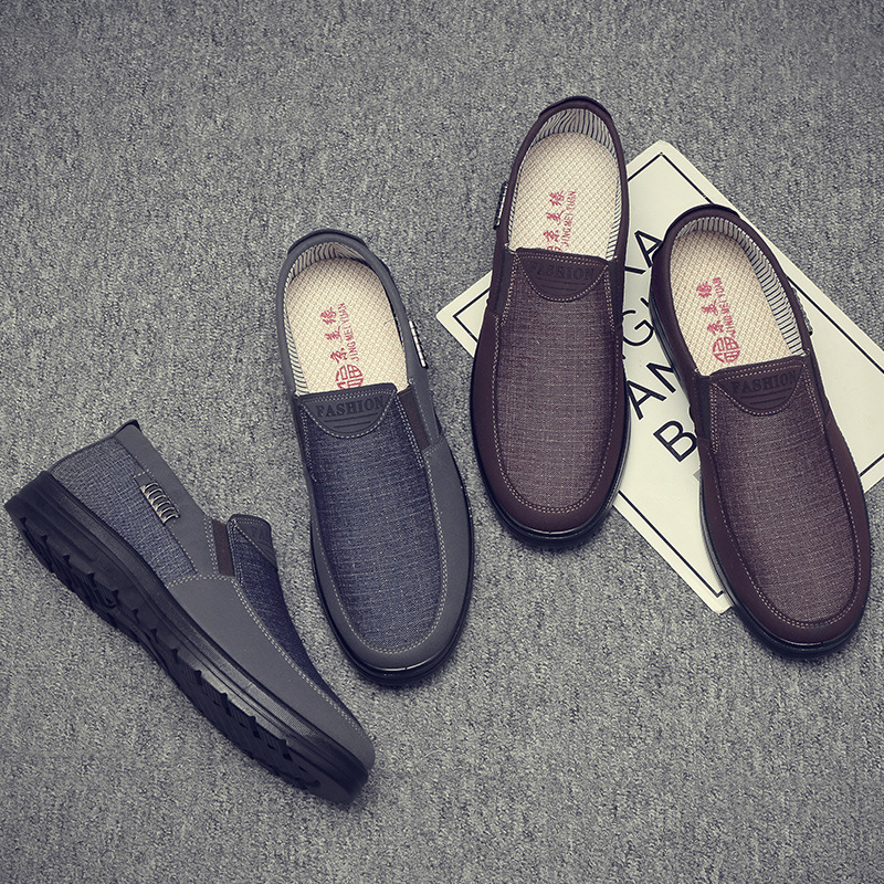 Summer New Business Casual Men's Shoes Soft Bottom Autumn Comfortable Shoes Middle-aged And Old Father Shoes AX045224