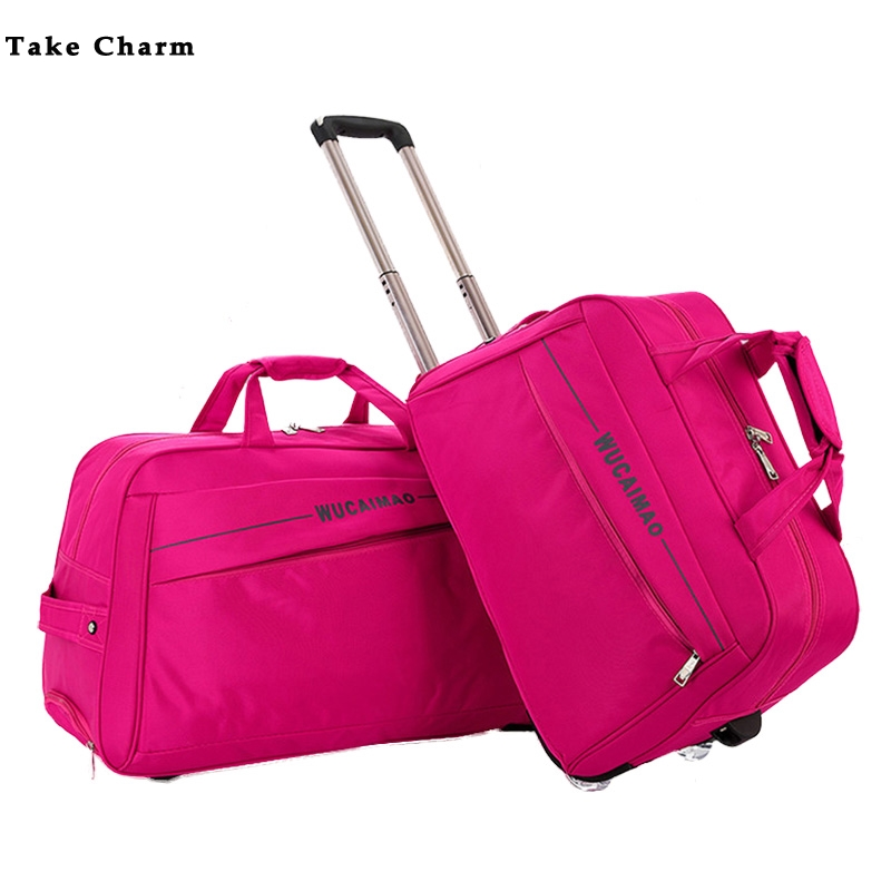 Large Capacity Women Trolley Bag Foldable Easy To Carry High Quality Outdoor Wheeled Travel Bag Men's Leisure Aircraft Bag