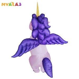 Image 1 - Unicorn Costumi Gonfiabili Per Adulti Donne Uomini Pegasus Halloween Cavallo Pony Carnevale Teenager Del Partito di Cosplay Completa Del Corpo Vestito di Vestito