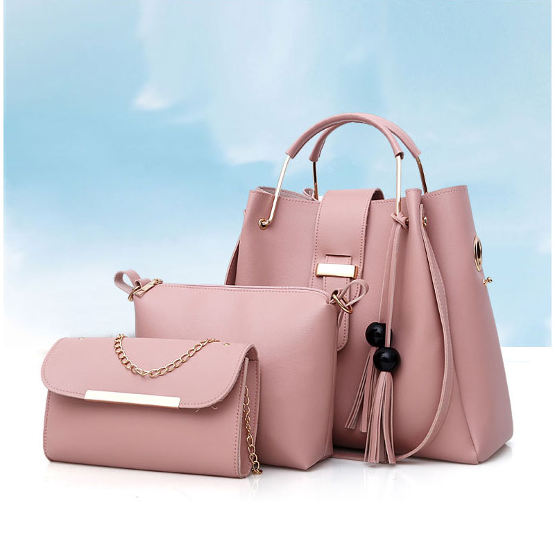 Martini Glass Handbags For Women Fashion Ladies PU Leather Top Handle Satchel Shoulder Tote Bags-Large Capacity