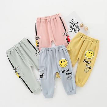 0-2Y spodnie dla niemowląt dorywczo sportowe spodnie dla niemowląt Pp spodnie dla dzieci chłopcy dziewczęta spodnie Cargo odzież dla niemowląt niemowlę noworodek jesienna odzież tanie i dobre opinie Stałe Luźne SS00153 Unisex COTTON Na co dzień Pasuje prawda na wymiar weź swój normalny rozmiar Elastyczny pas Wysokiej