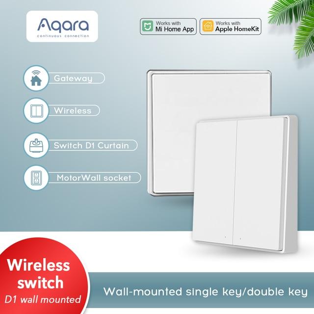 Aqara wireless switch single/double key D1 smart switch Zigbee wireless connection gateway hub for xiaomi mijia Mi Home homekit