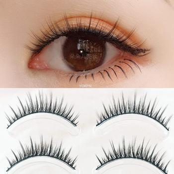 YOKPN 5 Pairs Japanese Supernatural False Eyelashes Soft Comfortable Cross False Eyelashes Big Eyes Makeup Thick Eyelashes 1