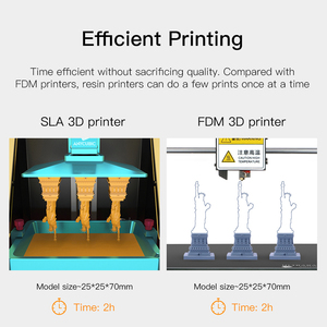 Image 3 - Anycubic פוטון 3D מדפסת 2019 בתוספת גודל SLA/LCD דיוק גבוה 2.8 פוטון מבצע אור ריפוי Impresora imprimante 3d ערכות