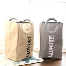 Foldable Large Laundry Basket with Aluminum Handle Floor Portable Clothing Toys Sundries Storage Baskets Home Organizer