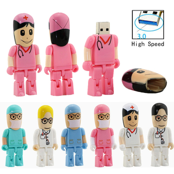 Doctors Nurse Usb 3.0 Memory Stick Nurses Lovely Medical Pendrive High Speed Cartoon Usb Flash Drive Pendrive 4GB 8GB 16GB 32GB