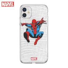 Marvel Cho iPhone XS Di Động Ốp Lưng Điện Thoại iPhone 11Promax Trong Suốt TPU Người Nhện Trở Lại SE Chống Rơi Mềm Mại vỏ
