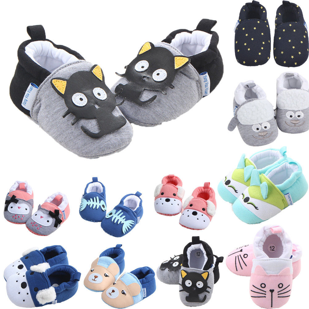Newest Arrival 3-11M Cute Newborn Toddler Baby Shoes Boys Girls Crib Shoes Cartoon Animal Soft Sole Non-slip Infant Babies Shoes