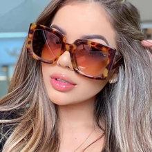 2021 novo estilo de luxo grande quadro óculos de sol marca designer metal sexy moda mulher óculos de sol