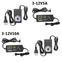 110V-220V AC zu DC 3V-12V 2A 3A 5A 10A Universal Einstellbare adapter mit display spannung Geregelte 24W 36W 60W 120W