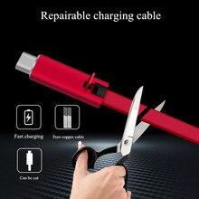 4A Usb Data Fast Charger Kabel Herstelbaar Sync Opladen Cord 1.5 M Reparatie Recycling Hernieuwbare Opladen Adapter Cord Voor Ios type C