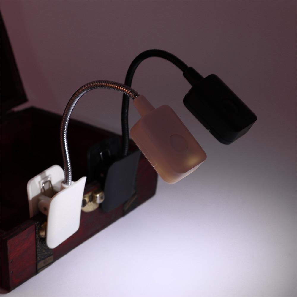 Luminária led flexível para leitura, leitor de ebook, luz noturna, clipe para cama besida, iluminação de mesa, pc, telefone lanterna lanterna