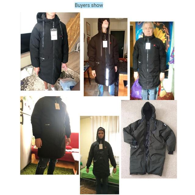 long parkas winter jacket men 2020 New warm Windproof Casual Outerwear Padded Cotton Coat Big Pockets High Quality Parkas Men 6
