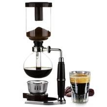 Сифон в домашнем стиле, Кофеварка, чайный сифон, чайник, вакуумный аппарат для приготовления кофе со стеклянным фильтром, 3 чашки, 5 чашек