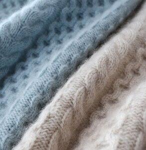 Image 3 - 2019 חדש אופנה כפול לעבות loose גולף קשמיר סוודר נשי ארוך שרוול לסרוג סוודר מוצק סוודרי נשים חולצות
