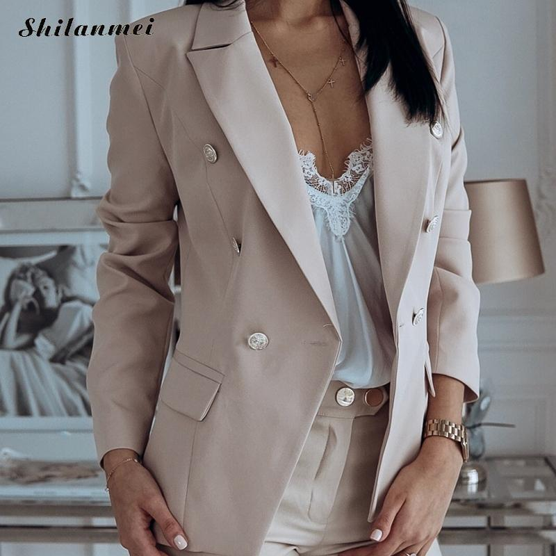 Fashion Women Blazers And Jackets 2019 Autumn Winter Office Lady Work Blazer Suit Elegant Slim Casual Coat Female Jackets 3xl