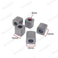 Bloco condutor da alimentação do carboneto de tungstênio w12 * l12 * h12 * hole6mm para a máquina de corte do fio de edm|  -