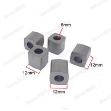 YG8 Tungsten Carbide Power Feed Contact W12*L12*H12*Hole6mm  Conductive Block for EDM Wire Cutting Machine