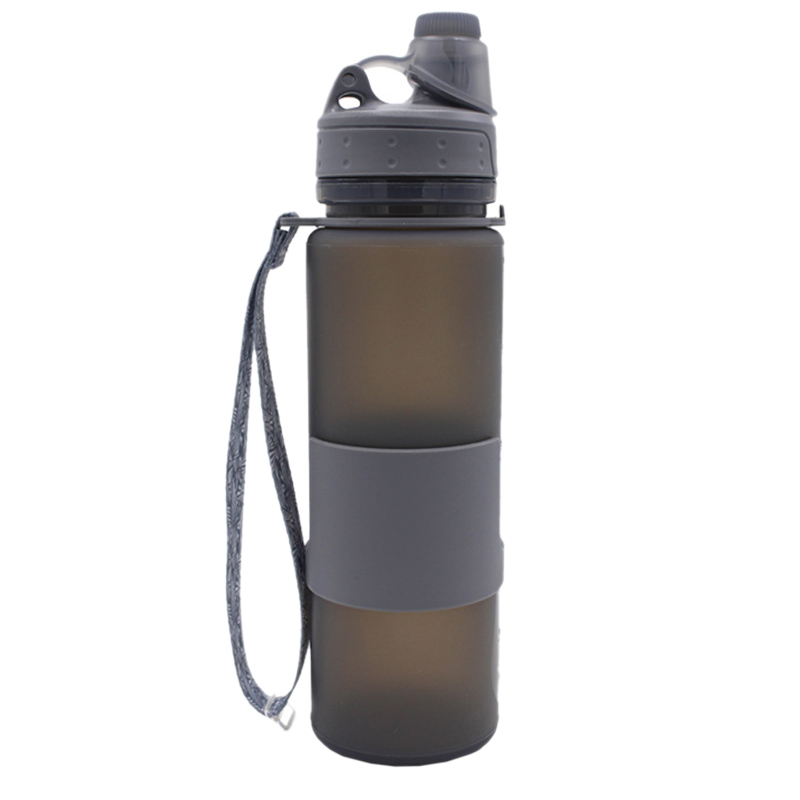 Hot 500ML Collapsible Water Bottle with Hand Strap Leak Proof Twist Cap BPA Free|Sports Bottles|Sports & Entertainment - title=