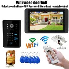 New wifi video doorbell wireless video door intercom with mo