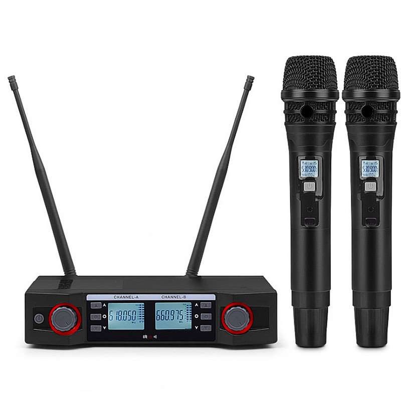Finlemho Wireless Karaoke Microphone UHF Dynamic Home Studio Recording Vocal For Professional DJ Speaker Conference