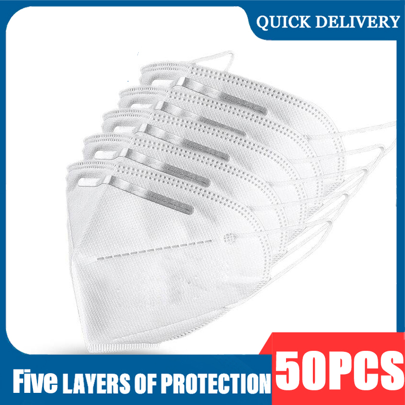 1 3 5 10 50 Pcs Masque Disposable Protective Masks Mascarias De Boca Nonwoven 5 Layer Filte Maske Safty Face Mouth Mask