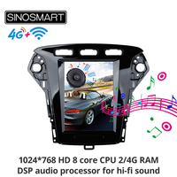 Sinosmart Android 8.1 Tesla style car gps multimedia car radio navigation player for Ford Mondeo/MK4 2011 2013