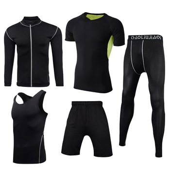 Men Sportswear Compression Sport Suits Quick Dry Running Sets Clothes Sports Joggers Training Gym Fitness Tracksuits Running Set 25