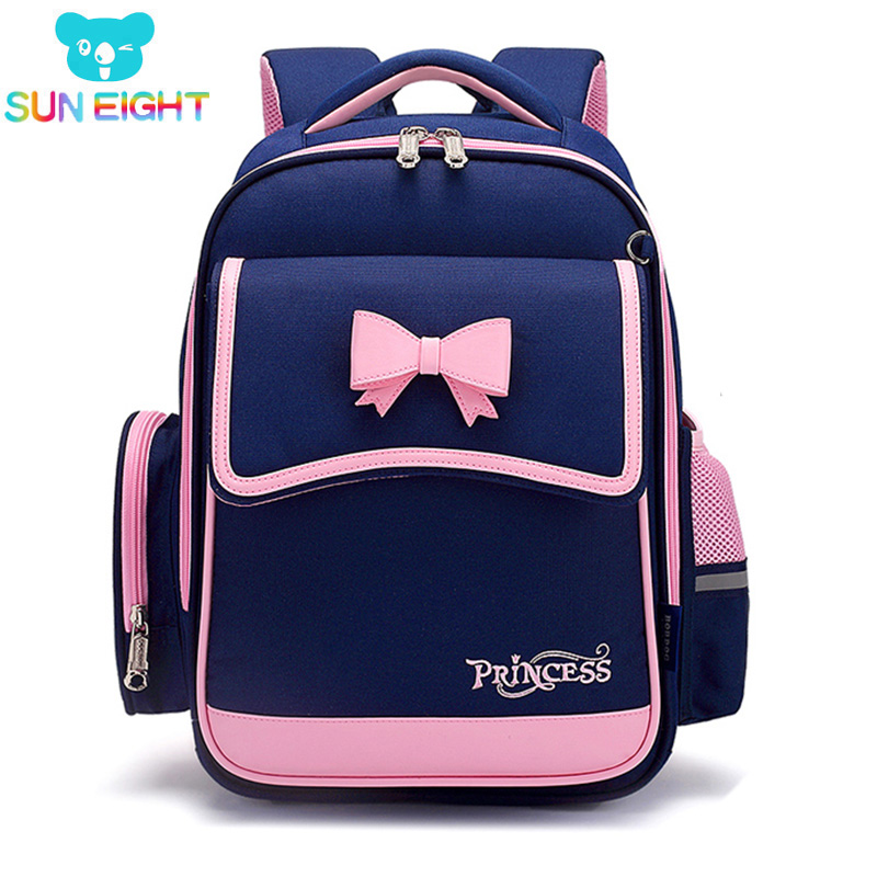 SUN EIGHT Bow Girl School Backpack Orthopedic Back Children School Bags Kid Bags Light School Bags for Girls|School Bags| - AliExpress