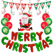 Christmas Balloon Set Merry Happy Holidays Letters Decoration Latex Home Festival Supplies
