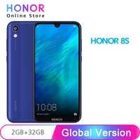 Version mondiale originale Honor 8S 32GB ROM 2GB RAM 5.71 ''FullView Dewdrop affichage MT6761 Quad Core 13MP caméra arrière téléphone portable