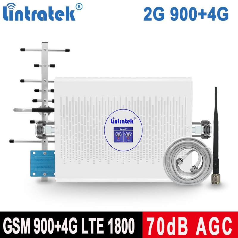 Lintratek 1800 LTE Mobile Phone Signal Booster GSM 2G 900 4G 1800Mhz Cell Repeater