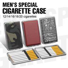 Tabak Lagerung Beste verkauf Leder & Metall Zigarette Box halten 12/14/16/18/20 stücke Beutel Fall doppelseitige Halter Container