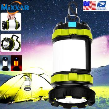 EZK90 Dropshipping Rechargeable Camping Lantern Flashlight 4 Modes Two Way Hook of Hanging Perfect for Camping Hiking
