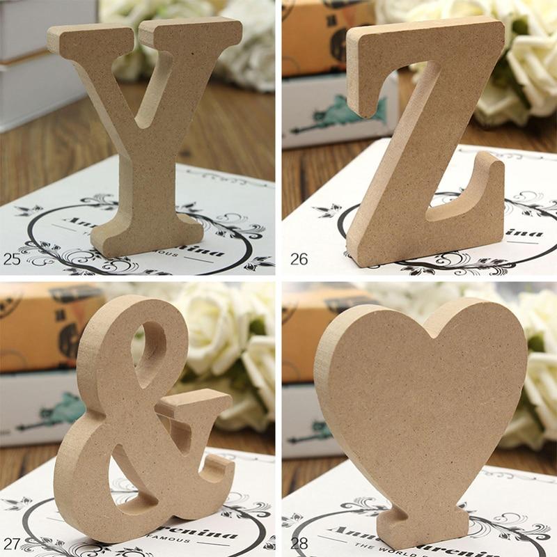 26 букв DIY толстой деревянной Свадебные украшения дома 10 см A-Z с буквами; Высокое Деревянный Письмо художественных ремесел стоячий домашний д...