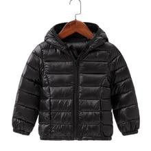 Down-Jackets Outerwear Hooded Candy-Color Autumn Girls Boys Kids Winter Children