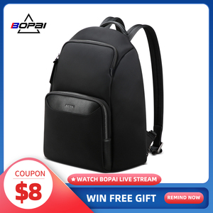 Женский рюкзак BOPAI, легкий Водонепроницаемый рюкзак с защитой от кражи, вместительный рюкзак для ноутбука 14 дюймов, дамские сумки