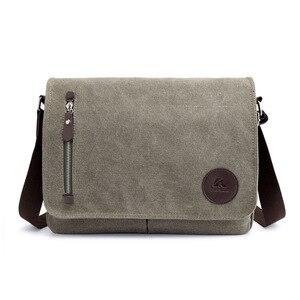 Image 4 - Винтажный холщовый портфель, мужская деловая офисная сумка через плечо, повседневная Наплечная Сумка конверт, Мужская Наплечная Сумка в стиле ретро, 2019