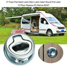 SStainless Steel Car Flush Pull Slam Latch con cerradura 2 pulgadas puerta para barco marino Deck Hatch caravana Motor Home Cabinet cajón(China)