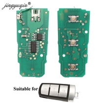 Jingyuqin 433 เมกะเฮิร์ตซ์ id48 ชิป 3c0959752ba electonic แผงวงจรสำหรับโฟล์คสวาเกน P assat B6 3C B7 Magotan CC สมาร์ทรถกุญแจรีโมท