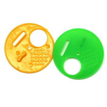 50 sztuk pszczelarstwo plastikowe ula drzwi okrągłe pojedyncze Bee wyjście ula Vent wejście wentylacja brama gniazdo narzędzia pszczelarstwo dostaw tanie i dobre opinie pledge agro SHD-A22 Hive door Random color Pure plastic