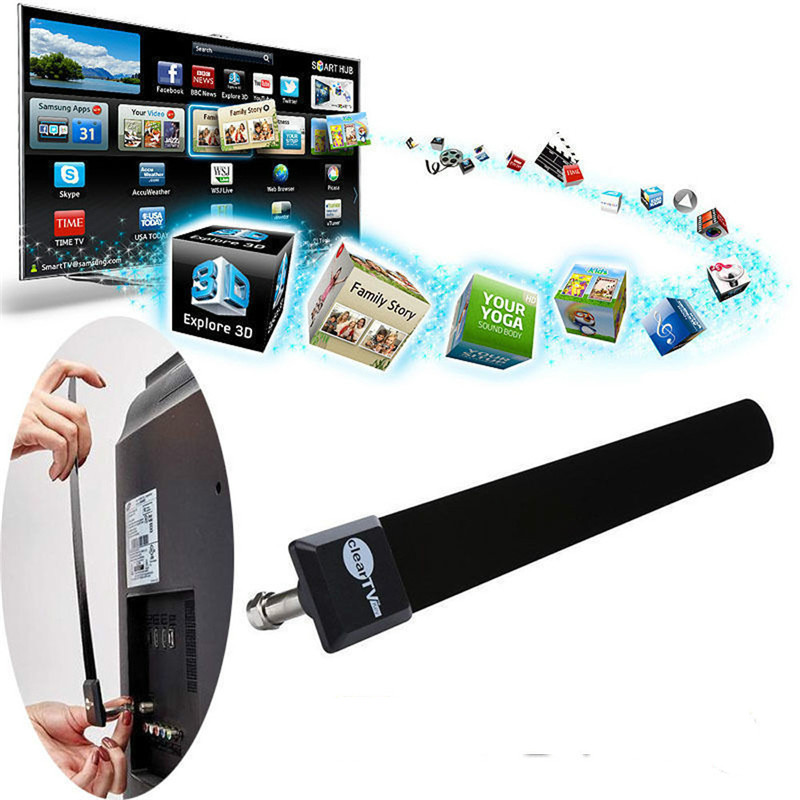 1080p Hot Sale TV Stick Clear Smart TV Switch Antenna HDTV FREE TV Digital Indoor Antenna  Ditch Cable TV