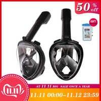 BR BLUERISE Wasser Sport Anti-fog Schwimmen Maske Volle Gesicht Tauchen Maske Rohr Schwimmen Schnorchel Unterwasser Masken Für Scuba tauchen
