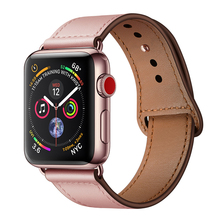 leather Strap for pulseira apple watch band 42mm 38mm 40mm 44mm sports high-quality correa iWatch bracelet 4 3/2 belt